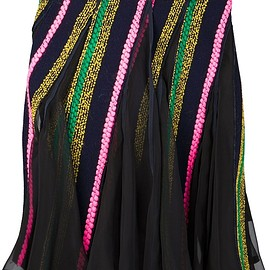 sacai - FW2015 Multicolour wool blend wrap skirt