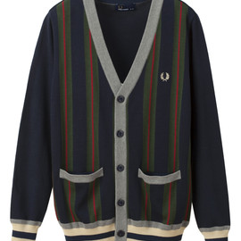 Fred Perry - Striped Knit Cardigan