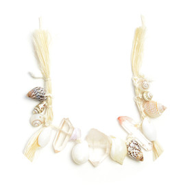 COSMIC WONDER Light Source - SEASHELL AND CRYSTAL NECKLACE