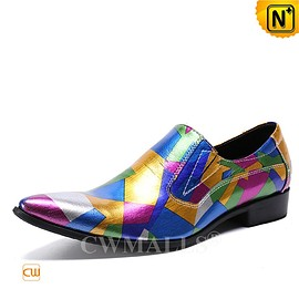 CWMALLS - Custom Made | Mens Colorful Printed Leather Loafer CW719123 | CWMALLS.COM