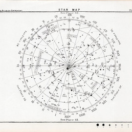 etsy - 1892 antique star map