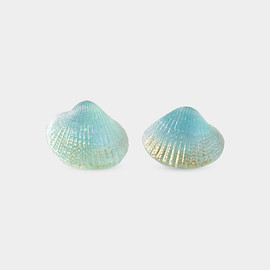 Shell Earrings, Blue