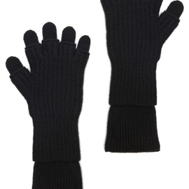 KRIS VAN ASSCHE - Layered Fingerless Gloves in Black