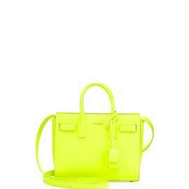 SAINT LAURENT - Sac de Jour Mini Crossbody Bag, Neon Yellow