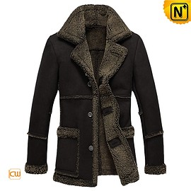 Cwmalls - Kansas Fur Lined Sheepskin Coat CW878257