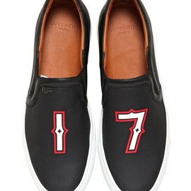 GIVENCHY - LEATHER '17' SLIP ON SNEAKERS