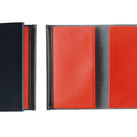 POSTALCO - Navy and Coral Card Holder for Monocle
