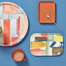 Donna Wilson - SS19 Blush Block + Line Tray - Donna Wilson - 100% melamine, made in Belgium