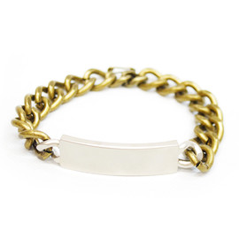 MARC JACOBS - MARC JACOBS マークジェイコブス Mixed Metal ID Bracelet ブレスレット SILVER