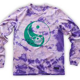 NADA. - Skull yin yang Long-sleeve tee / Purple