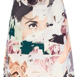 Carven - printed a-line skirt