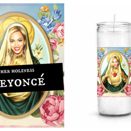 Worship Worthy Wax - Beyoncé Prayer Candle - White Unscented Prayer Candle - Her Holiness Beyonce