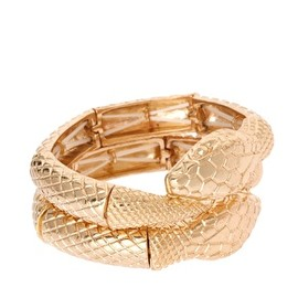 asos - Image 1 of ASOS Pack of Two Snake Stretch Bracelets