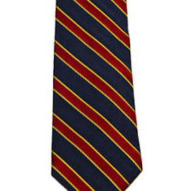 Brooks Brothers - Vintage Brooks Brothers Makers Silk Striped Necktie Made in USA Navy/Gold/Red