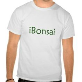 iBonsai green text bonsai design Tee Shirt