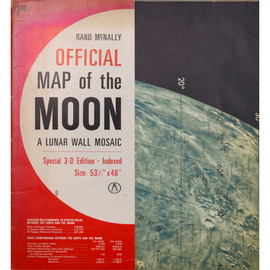 RAND McNALLY - RAND McNALLY OFFICIAL MAP of the MOON