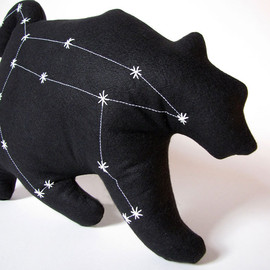 lovecalifornia - Ursa Major Constellation - The Great Bear in Black