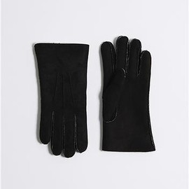 albam - Suede Lambskin Black Gloves