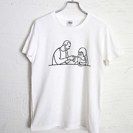 yu nagaba - T-shirt Man and girl - White -