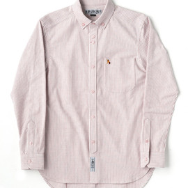 bal - STRIPE SLIM FIT OXFORD BD SHIRT