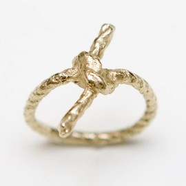 WhiteFly - Forget Me Knot gold ring