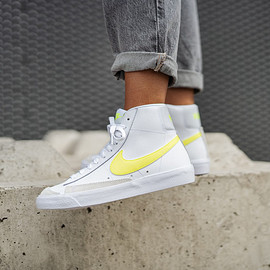 nike - Women's Blazer Mid '77 White/Lemon Venom-Pure Platinum