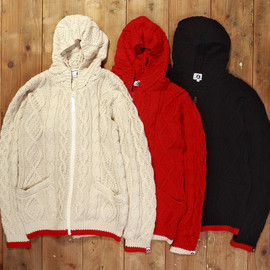GOODENOUGH - CABLE ZIP HOODY
