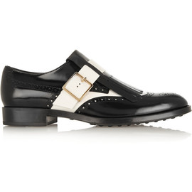 TOD'S - Two-tone glossed-leather loafers