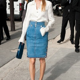 style icon - poppy delvingne  /Chanel pendant la Fashion Week haute couture automne-hiver 2012-2013 de Paris.