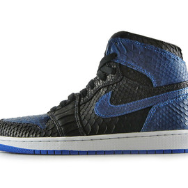"NIKE - Air Jordan 1 Black/Royal ""Python"" by JBF"