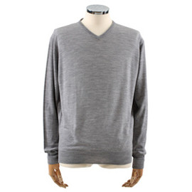 JOHN SMEDLEY - V neck Knit(sea island cotton)