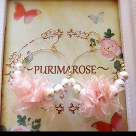 PURIMAROSE - Chiffon dress pierce