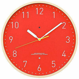 "ASKUL - ASKUL Atomic Wall Clock ""Red"" (Designed by Matti Klenell) アスクル"