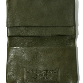 COSMIC WONDER Light Source - VEGETABLE TANNED LEATHER CARD CASE - 12-13 F/W EDITION