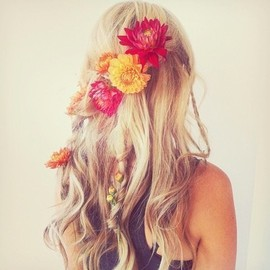Le flowers in ma hair