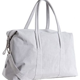 Martin Margiela - light grey canvas travel bag