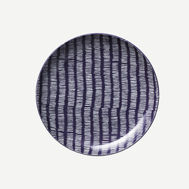 THE CONRAN SHOP - ROUND PLATE BAMKO INDIGO