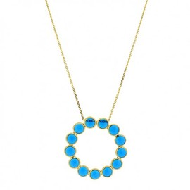 LUCAS JACK LONDON - Circle of Life Necklace Blue