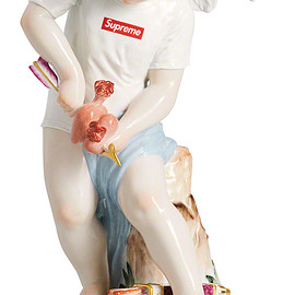 Supreme, Meissen - Hand-Painted Porcelain Cupid Figurine