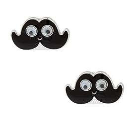 TOPSHOP - Smiley Moustache Studs