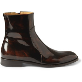 Maison Martin Margiela - HIGH-SHINE LEATHER CHELSEA BOOTS