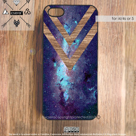 bycsera - iPhone 5 Case Wood Print, Galaxy iPhone 5 Case, Silicone Rubber Case, Plastic iPhone Case, iPhone 4S Case - Wood Print Case