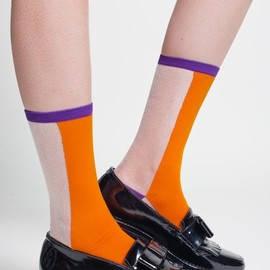 Hansel from Basel - Hansel from Basel Colorblock Sheer Sock
