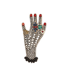 GUCCI - Hand crystal-embellished brooch