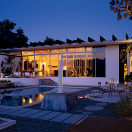 Oscar Niemeyer - Strick House, Santa Monica, USA