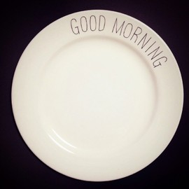 chabbit - GOOD MORNING plate