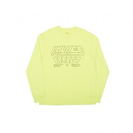 Palace Skateboards - PALACE EFFECT L/S T-SHIRT FLURO YELLOW