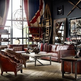 Eclectic vintage interiors by designer Timothy Oulton
