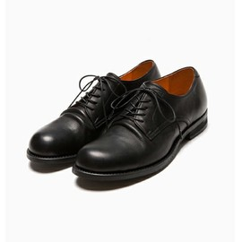 MR.OLIVE E.O.I - WATER PROOF SHRINK LEATHER / PLAIN TOE OXFORD SHOES
