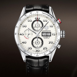 TAG Heuer - Carrera Calibre 16 Day-Date Automatic Chronograph 43mm Silver Leather Bracelet